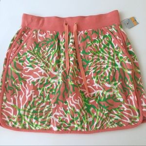 Crown & Ivy beach coral skirt skort small NWT!